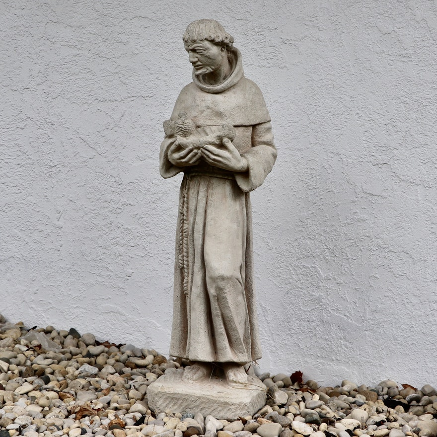 Nina Studio of Quakertown Cast Stone St. Francis Statue