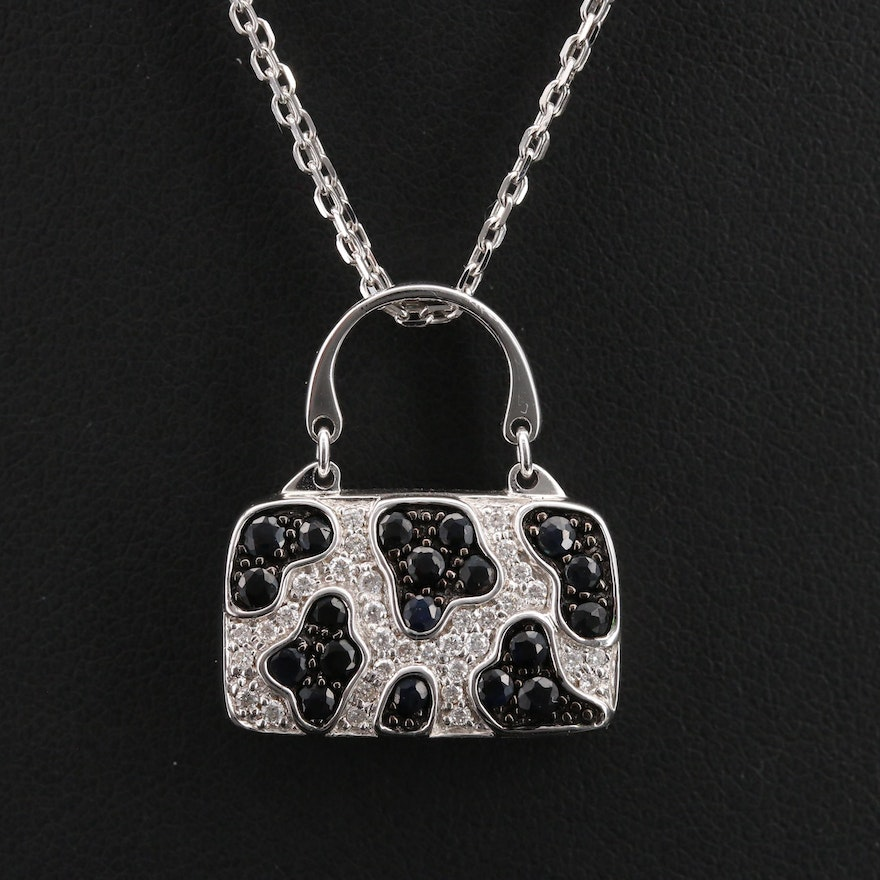 Mirabelle 18K Diamond and Sapphire Purse Necklace