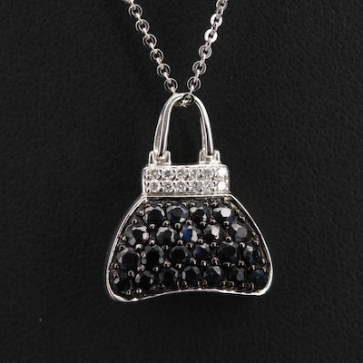 Mirabelle 18K Sapphire and Diamond Purse Necklace