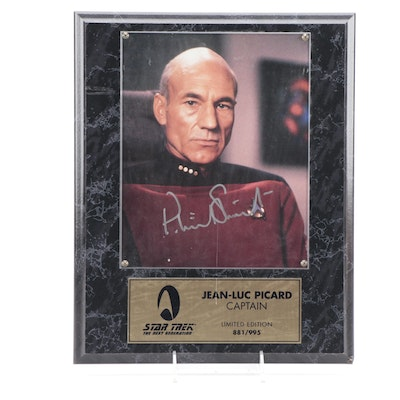 """Patrick Stewart Signed """"Jean-Luc Picard"""" Limited Edition Publicity Still"""