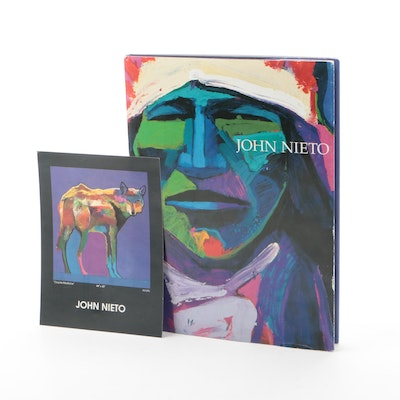 Signed First Printing John Nieto Exhibition Book, 1989
