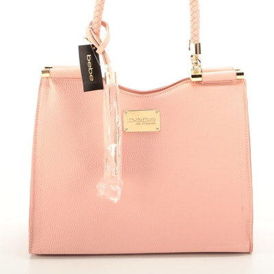 Bebe Natalie Blush Tone Two-Way Bag Signed by Diane Ladd