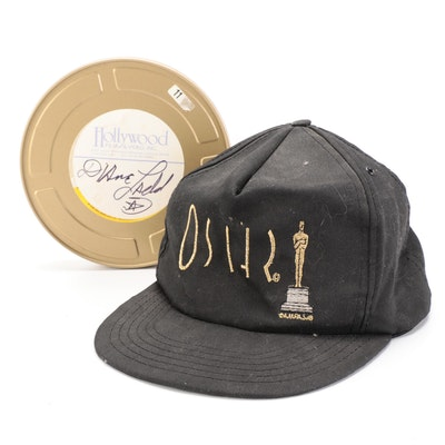 Diane Ladd Signed Oscars Baseball Cap and Kodak Film Reel Canister