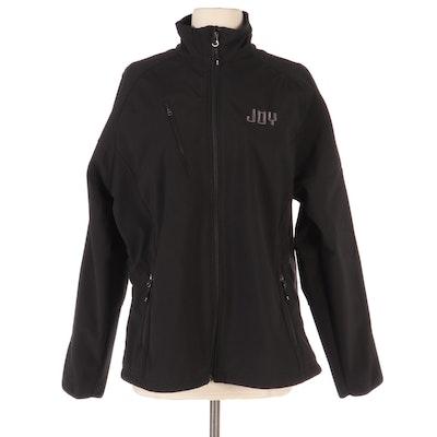 Port Authority Fleece Lined Windbreaker Zip Jacket in Black