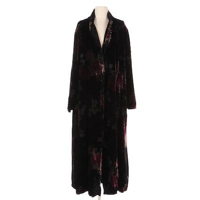 Eve & Me Burnout Velvet Full-Length Robe