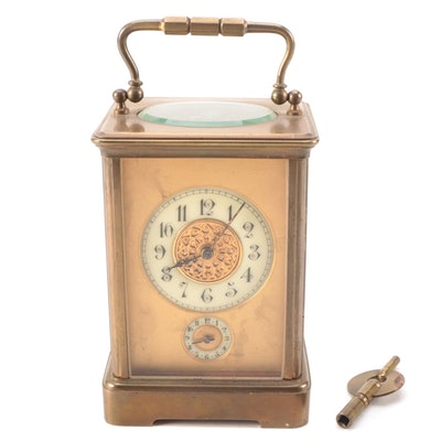 French Corniche Case Clock, 19th Century