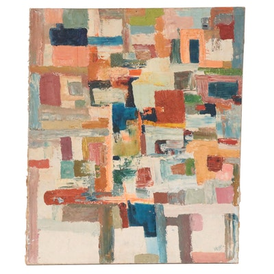 Abstract Oil Painting, Mid to Late 20th Century
