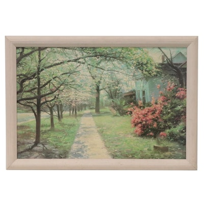 """Offset Lithograph After Richard Earl Thompson """"Georgian Way,"""" Late 20th Century"""