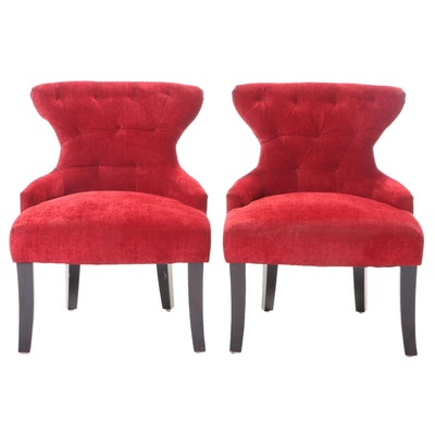 Pair of Office Star Products Upholstered Slipper Chairs