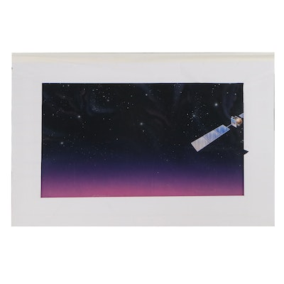 Don Wieland Gouache and Airbrush Illustration of Satellite