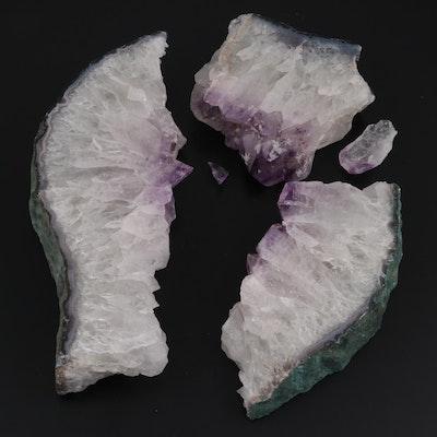 Amethyst Quartz Slab Specimens