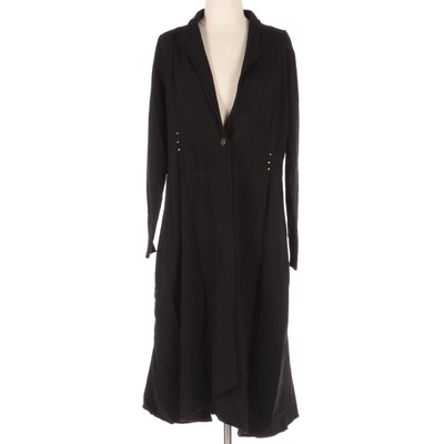 Testimony Los Angeles Smoking Jacket in Black French Terry Fabric
