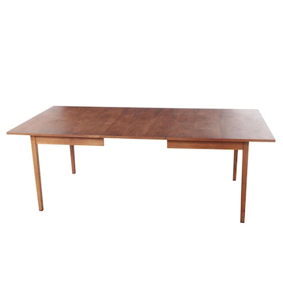 Mid Century Modern Wood Extension Dining Table