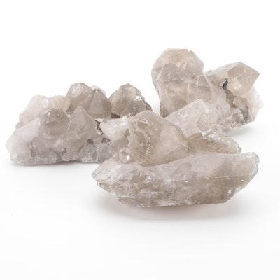 Smoky Quartz Crystal Clusters