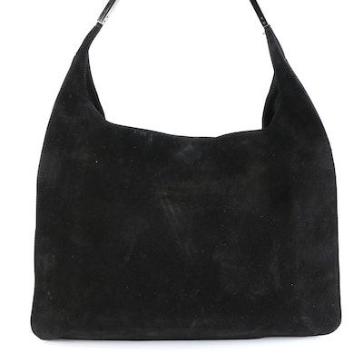 Gucci Black Suede Shoulder Bag