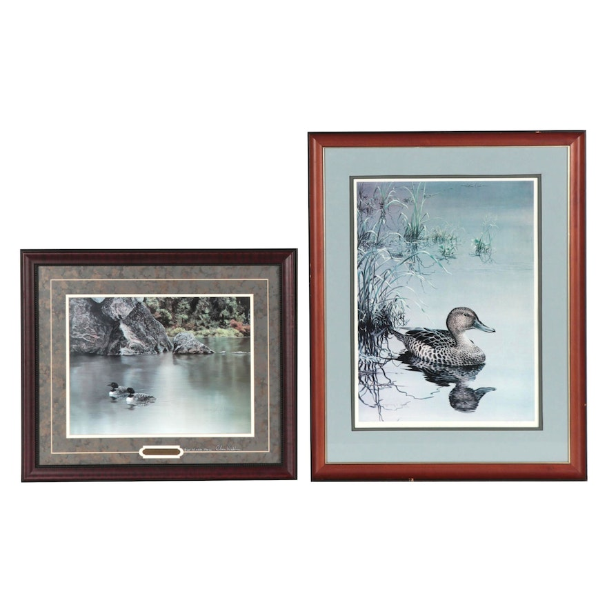"""Christopher B. Walden Offset Lithographs Including """"Loons on String Lake"""""""