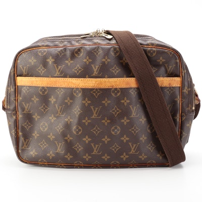 Louis Vuitton Reporter GM Messenger Bag in Monogram Canvas and Vachetta Leather