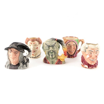 """Royal Doulton """"The Genie"""", """"The Clown"""" and Other Character Jugs"""