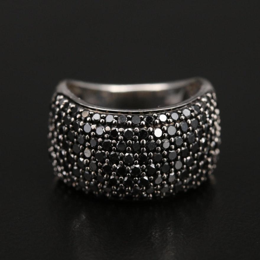 Sterling 2.05 CTW Diamond Multi-Row Ring