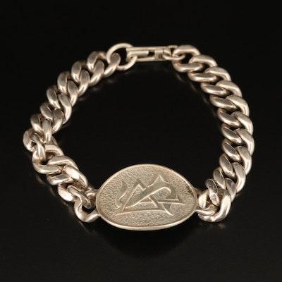 Sterling Fraternity Bracelet