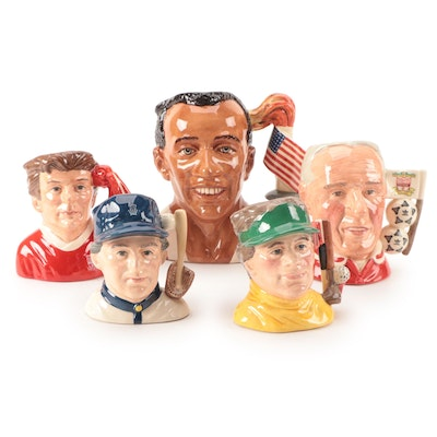 """Royal Doulton """"Jesse Owens"""" Character Mug and Others, Mid to Late 20th Century"""
