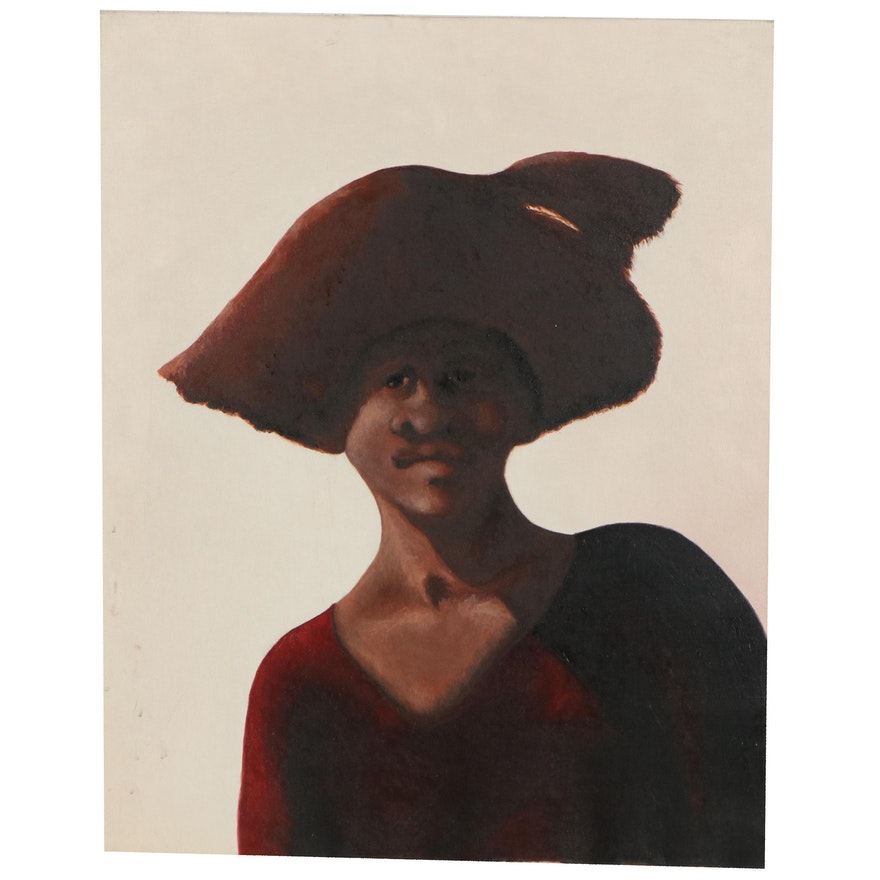 Silvio Betti Portrait Oil Painting, Late 20th Century