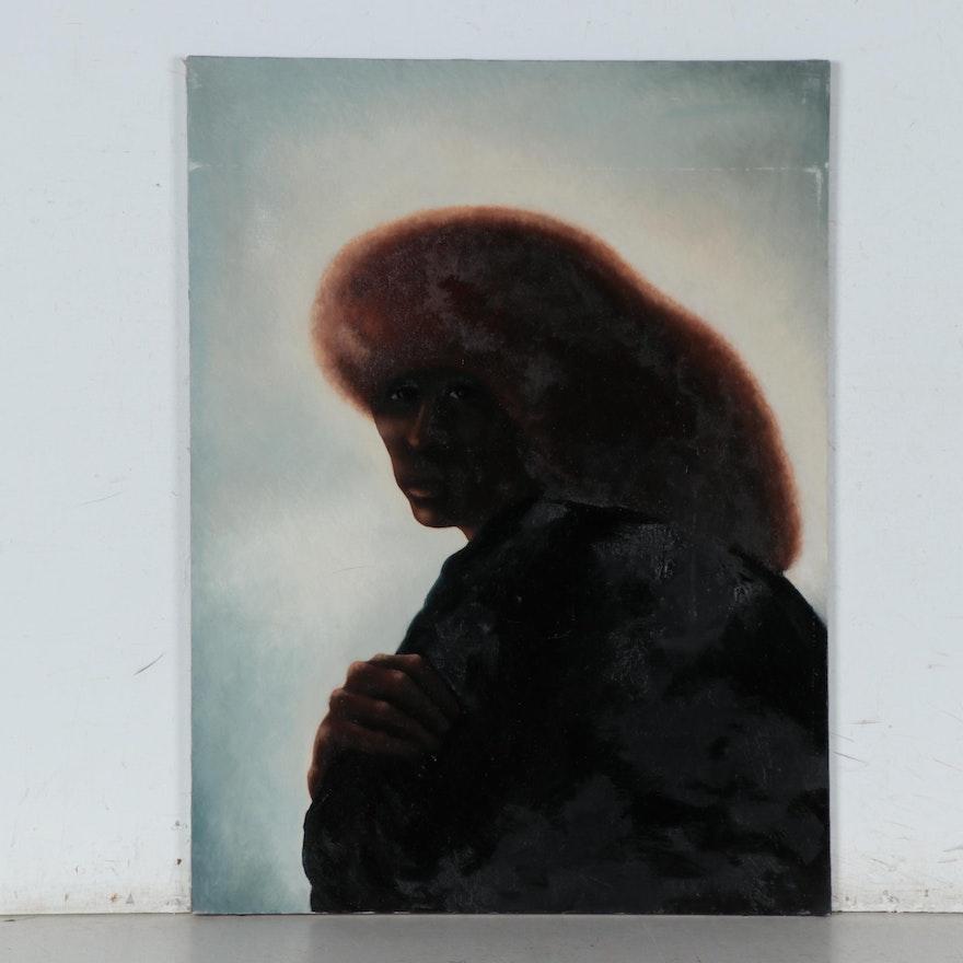 Silvio Betti Oil Portrait, Circa 1970