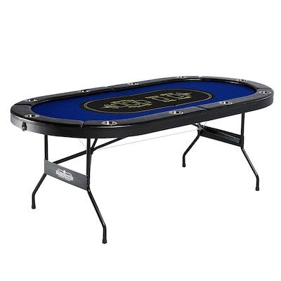 Barrington 10-Player Blue Poker Table