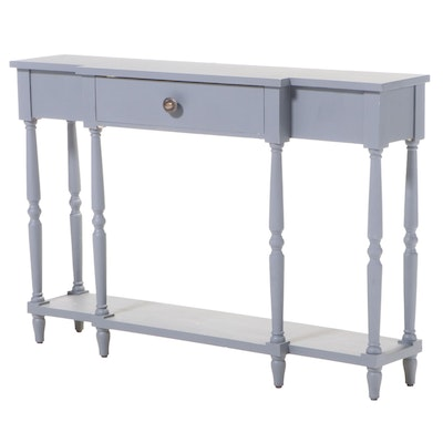 Contemporary Painted Breakfront Console Table