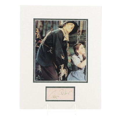 """Ray Bolger """"The Scarecrow"""" From """"The Wizard of Oz"""" Signature Cut and Print, JSA"""