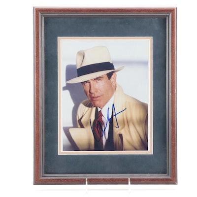 "Warren Beatty Signed ""Dick Tracy"" Movie Photo Print, JSA COA"