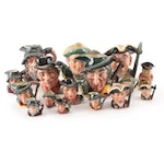 """Royal Doulton """"Rip Van Winkle"""" with Other Character Jugs and Miniature Jugs"""