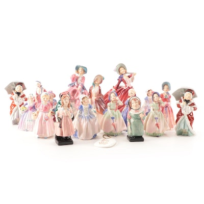 """Royal Doulton """"Autumn Breezes"""", """"Diana"""" and Other Bone China Figurines"""
