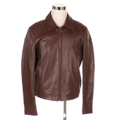 Men's Rosleen Leather Jacket, New with Merchant Tag