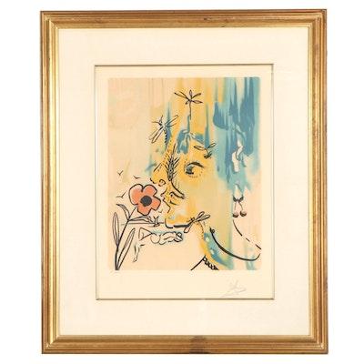 "Salvador Dalí Lithograph ""Vanishing Face,"" 1980"