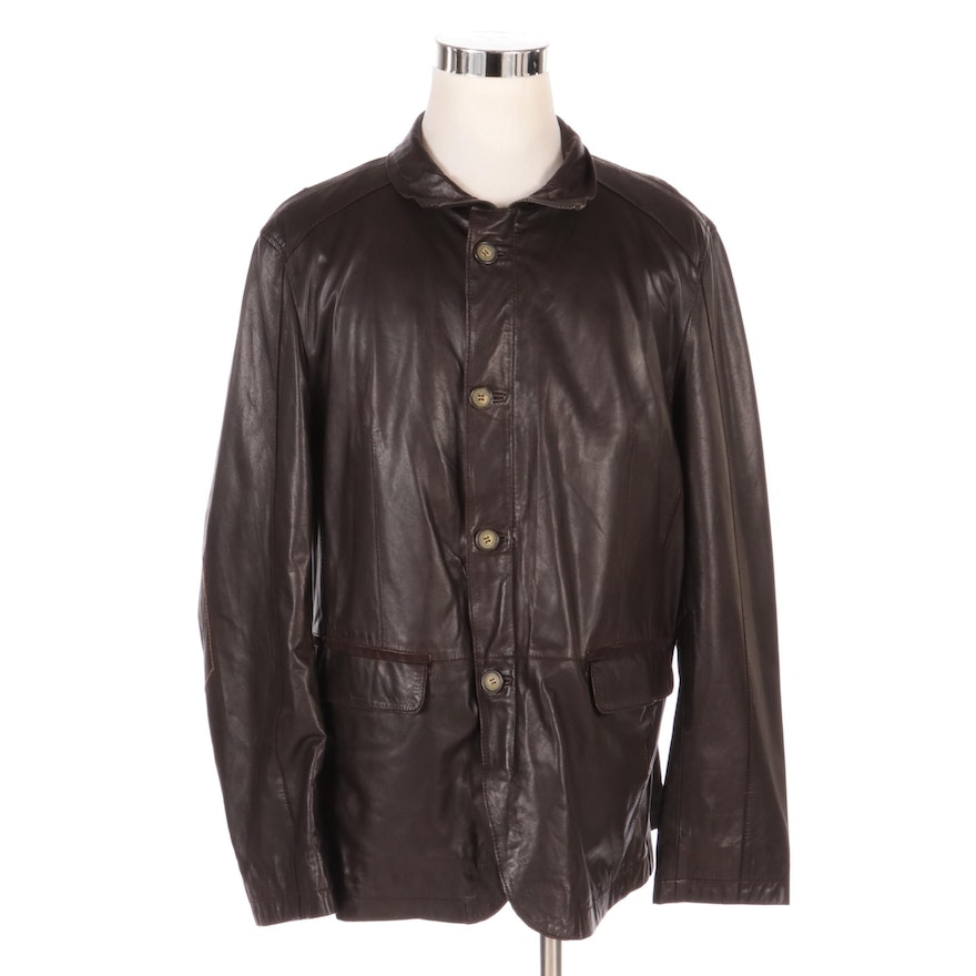Men's HiSO Leather Jacket, New with Merchant Tag