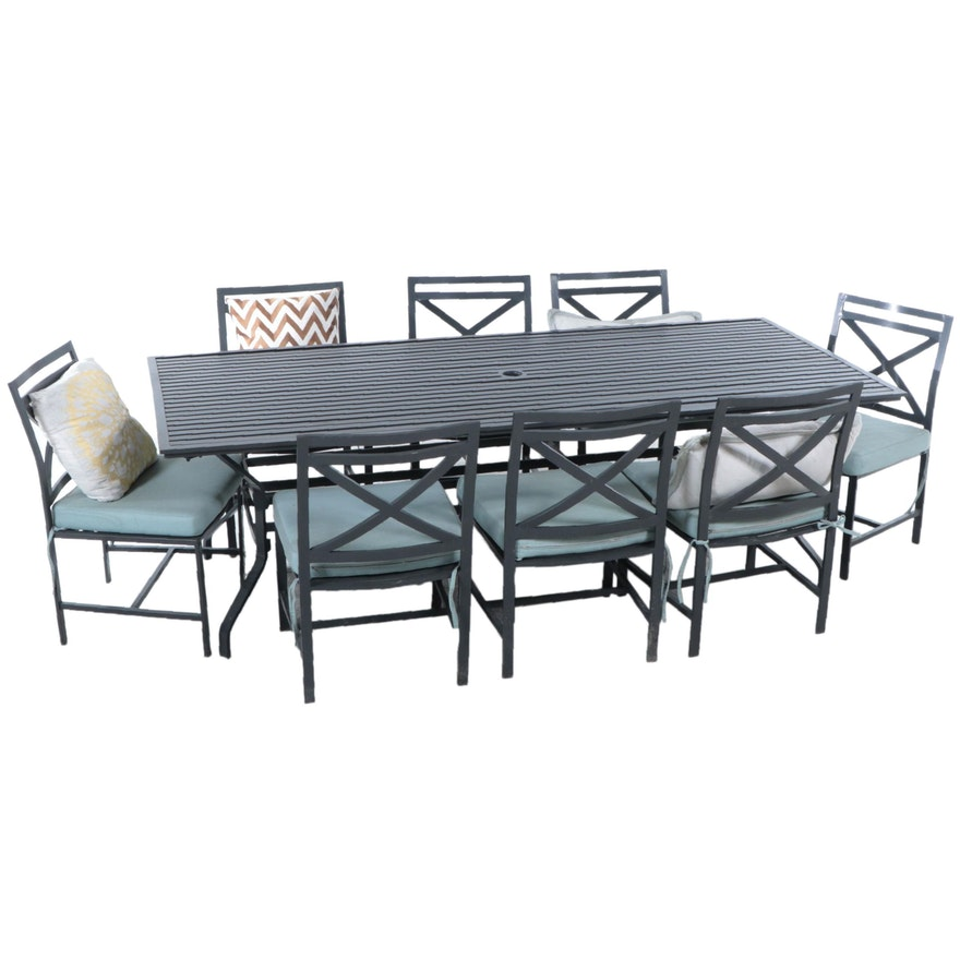 Contemporary Metal Patio Dining Set