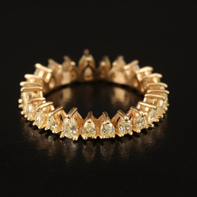 18K 2.00 CTW Yellow Diamond Eternity Band