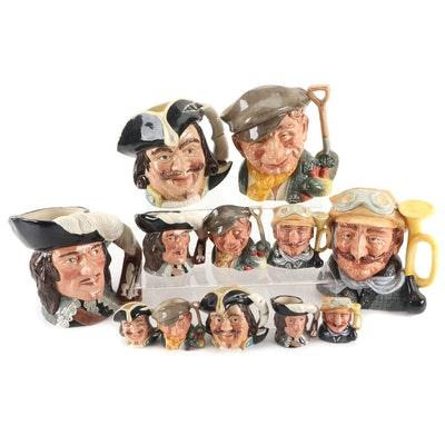 """Royal Doulton """"D'Artagnan"""" and Other Character Jugs and Miniature Jugs"""