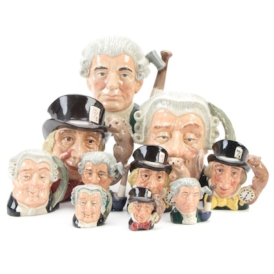 """Royal Doulton """"The Lawyer"""", """"Mad Hatter"""" and """"Apothecary"""" Character Mugs"""