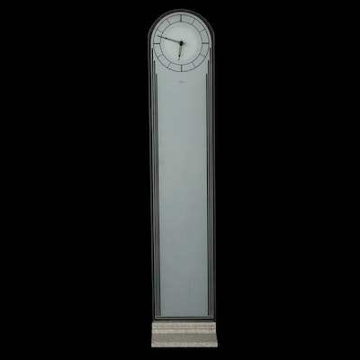 Umbar Art Deco Style Frosted Glass Standing Clock
