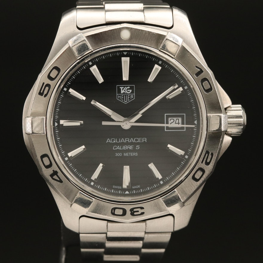TAG Heuer Aquaracer Calibre 5 Stainless Steel Automatic Wristwatch