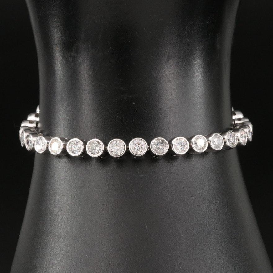 14K Bezel Set 6.00 CTW Diamond Line Bracelet