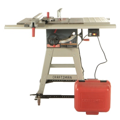 Craftsman Corded Electric Table Saw and Workbench