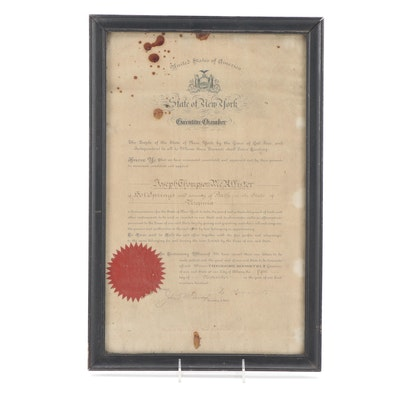 Theodore Roosevelt Document Signed Appointment of Joseph McAllister, 1900