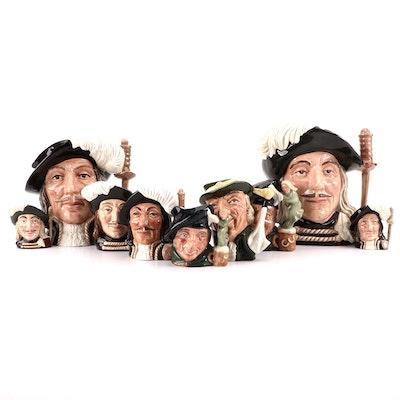 "Royal Doulton ""Aramis"" and Other Character Mugs"