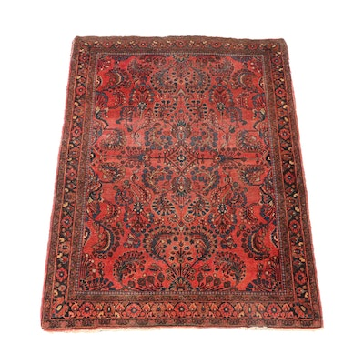 3' x 5' Hand-Knotted Persian Sarouk Area Rug