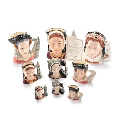 "Royal Doulton ""Elizabeth I"", ""Anne Boleyn"" and Other Ceramic Character Jugs"