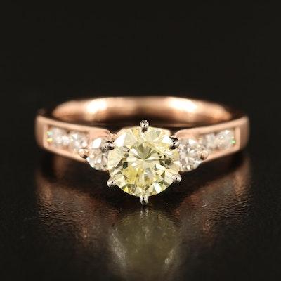 14K 1.50 CTW Diamond Stepped Ring