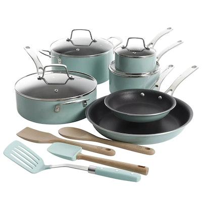 Martha Stewart 14-Piece Nonstick Aluminum Cookware Set